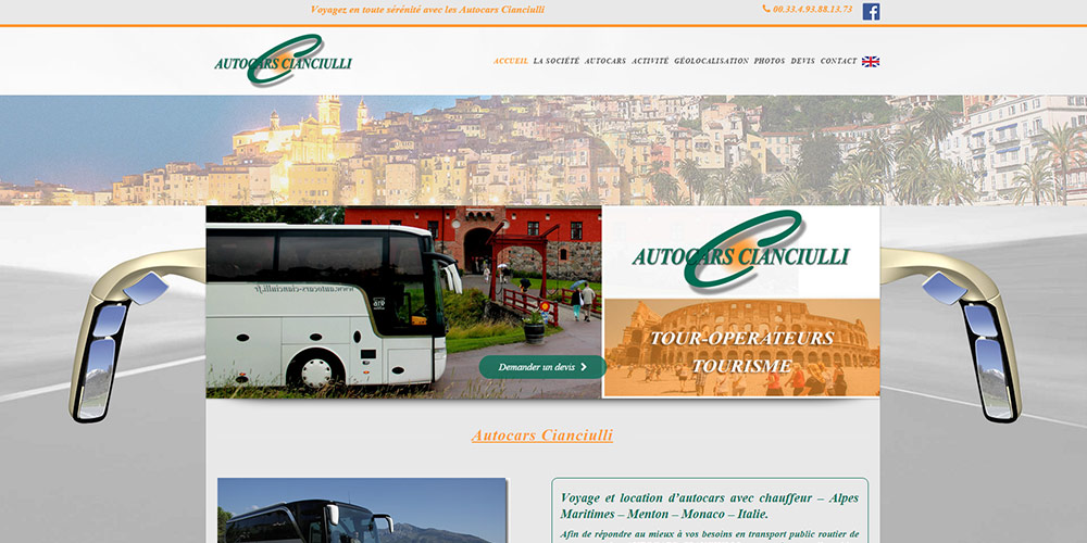 Webmaster cr er site web concessionnaire garage vtc for Garage auto menton
